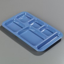 Carlisle 43983 Right Hand 6 Compartment Melamine Tray - 1 doz