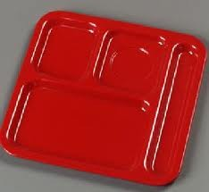 Carlisle 43984 Right Hand 4 Compartment Melamine Tray - 4 doz