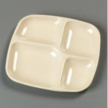 Carlisle 43986 4 Compartment Melamine Tray - 3 doz