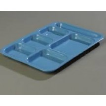 Carlisle 43989 Right Hand 6 Compartment Melamine Tray - 1 doz
