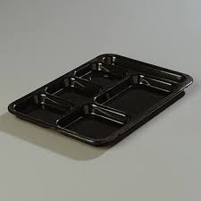 Carlisle 614R Right Hand 6 Compartment ABS Tray - 2 doz