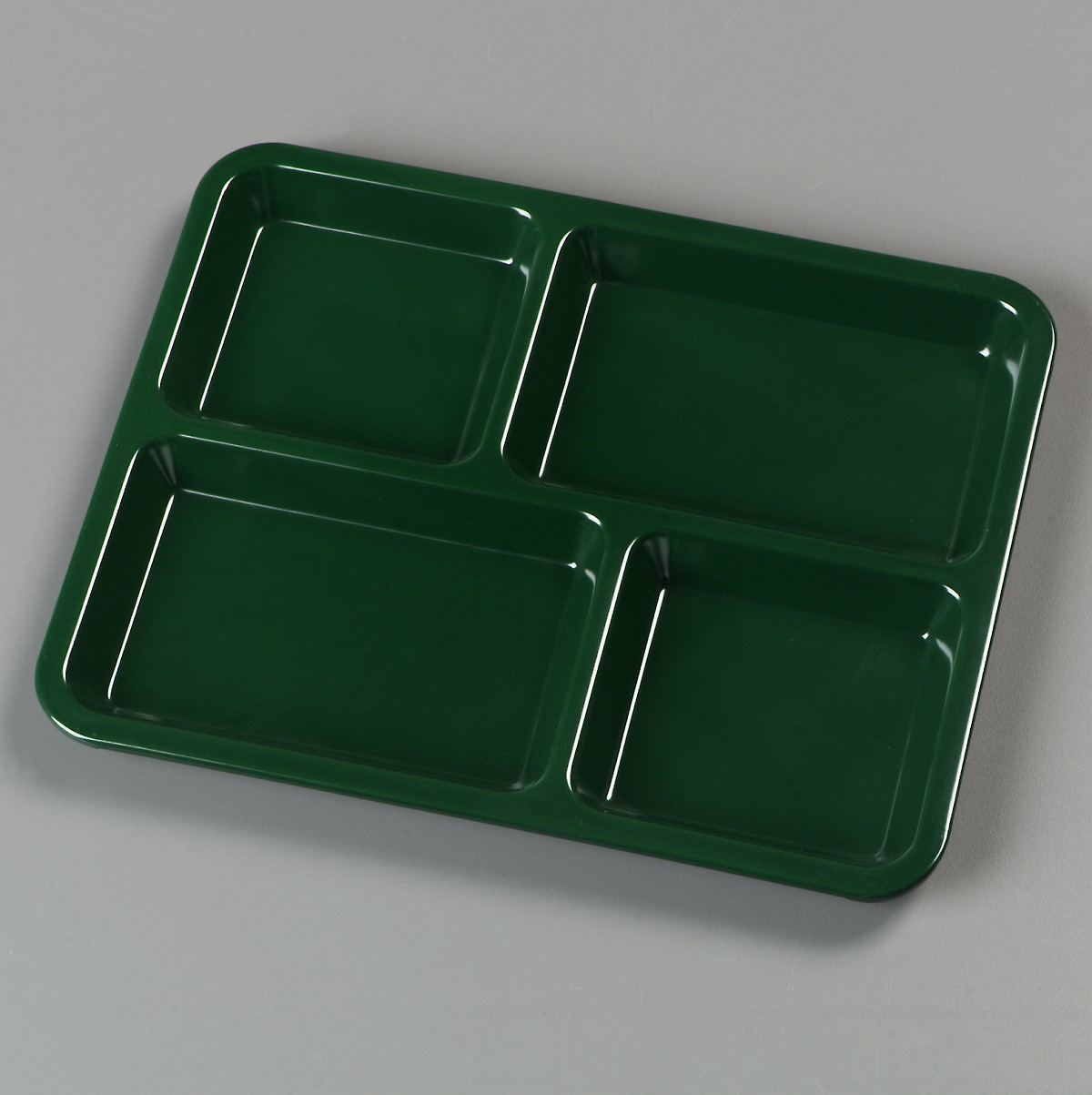 Carlisle KL444 4 Compartment Melamine Tray - 1 doz