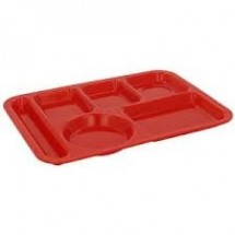 Carlisle P614 Left Hand 6 Compartment Polypropylene Tray - 2 doz