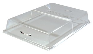 "Carlisle SC26-O7 Hinged Clear Acrylic Pastry Tray Cover 26"" x 18"" x 4"""