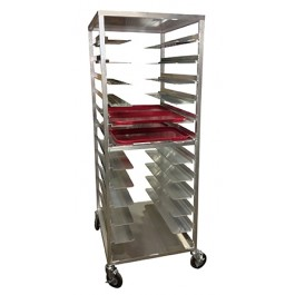 Carter-Hoffmann AL20 Aluminum Room Service Cart for Patient Trays, 20-Trays