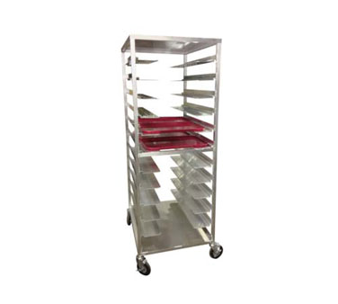 Carter-Hoffmann AL24 Aluminum Room Service Cart for Patient Trays, 24-Trays
