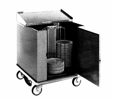 Carter-Hoffmann CD260 Unheated Dish Storage Cart, 252-Dividers for 12.5