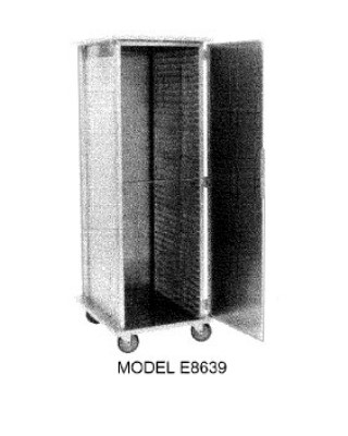 Carter-Hoffmann E8623H Enclosed Heated Cabinet with Extruded Side Panels, 18-Trays