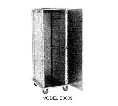 Carter-Hoffmann E8639H Enclosed Heated Cabinet with Extruded Side Panels, 34-Trays