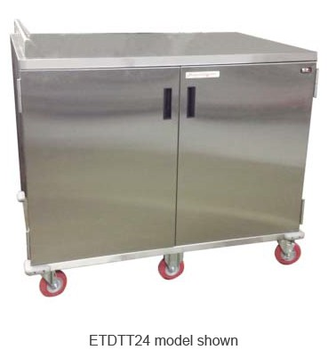 Carter-Hoffmann ETDTT28 Economy Patient Tray Cart , Two Door 28-Tray Capacity