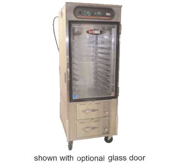Carter-Hoffmann HL10-10-RW hotLOGIX Dual Humidified Holding Cabinet with 2 Drawer Warmer