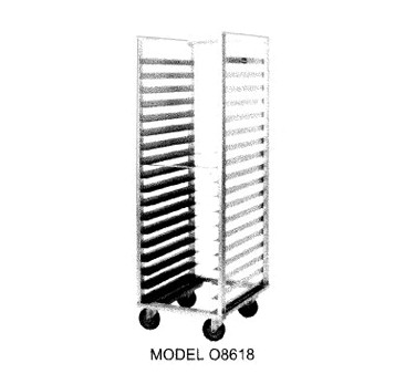 Carter-Hoffmann O8640 Double Pan Rack with Open Sides, 40 Trays
