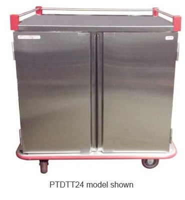 Carter-Hoffmann PTDTT24 Performance Patient Tray Cart, 2-Door, 24 Tray Capacity