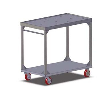 Carter-Hoffmann TT104 Two Shelf Stacking Tray Cart