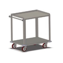 Carter-Hoffmann UC2S2433 Stainless Steel Utility Cart, 2-Shelves