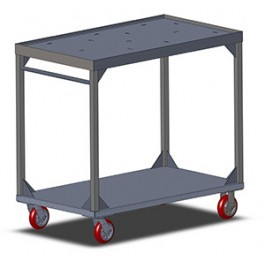 Carter-Hoffmann UC3S2433 Stainless Steel Utility Cart, 2-Shelves