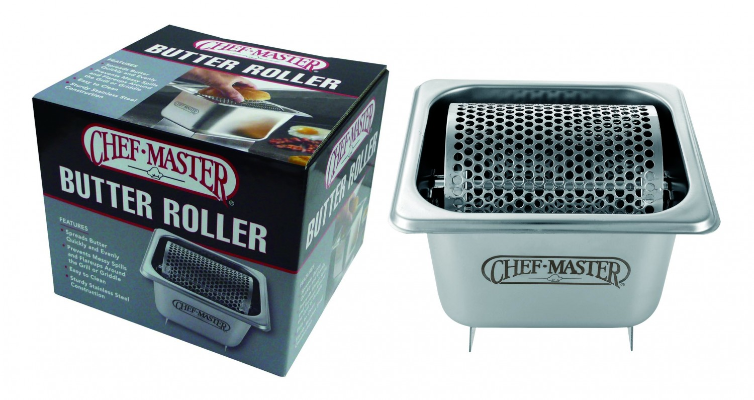 Chef Master 90021 Stainless Steel Butter Roller - 4 pcs