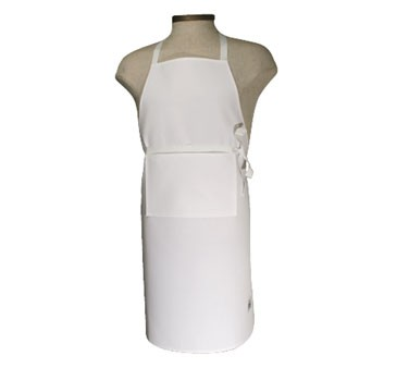 Chef Revival 401BA White Front Bib Apron