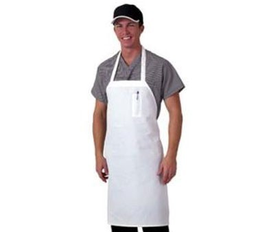 Chef Revival 600BAW-D Deluxe White Blended Twill Bib Apron