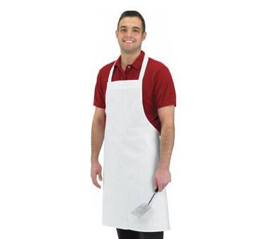 Chef Revival 600BAW-NP Economy White Poly/Cotton Bib Apron
