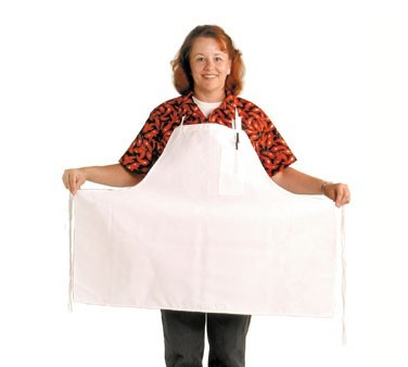 Chef Revival 600BAW-XL Extra Wide White Polyester Bib Apron