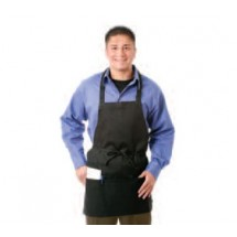 Chef Revival 602PS-BK 3-Pocket Bib Apron