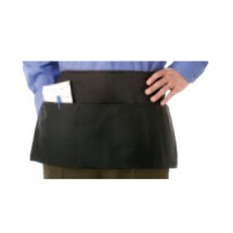 Chef Revival 605PS-BK Black Three-Pocket Waist Apron