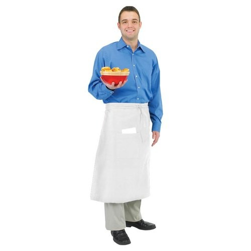 Chef Revival 607BA Long White Bistro Apron with One Pocket