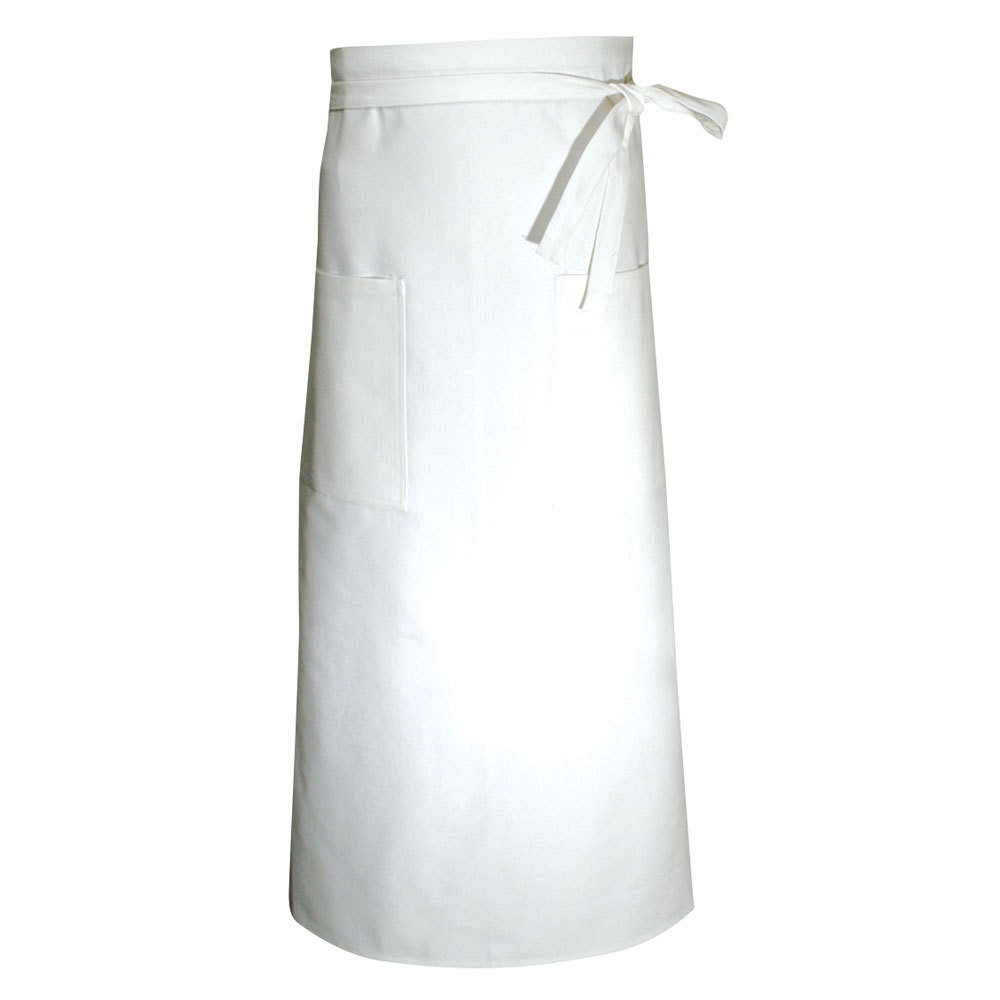 Chef Revival A008 White Two Pocket Chef Bistro Apron