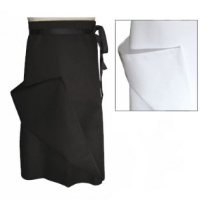 Chef Revival A009BK Black Chef Bistro Apron
