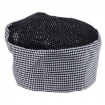 Chef Revival H009-R Houndstooth Poly Cotton Chef Pill Box Hat, Regular