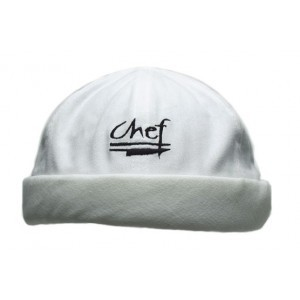 Chef Revival H059WH Cotton White Chef Beanie