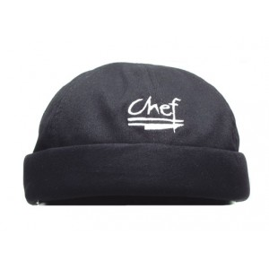 Chef Revival H060BK Cotton Black Chef Beanie