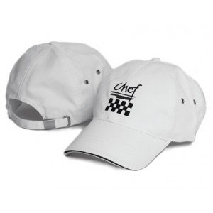 Chef Revival H063WH Cotton White Baseball Hat
