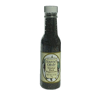 Chef Specialties 00501 Professional Series Malabar Black Peppercorns Bottle 2.8 oz. - 1 doz
