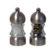 Chef Specialties 01572 Metro Acrylic Pepper Mill and Salt Mill Set, 3 1/2""