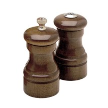 Chef Specialties 04100 Professional Series Capstan Walnut Pepper Mill and Salt Shaker Set, 4""