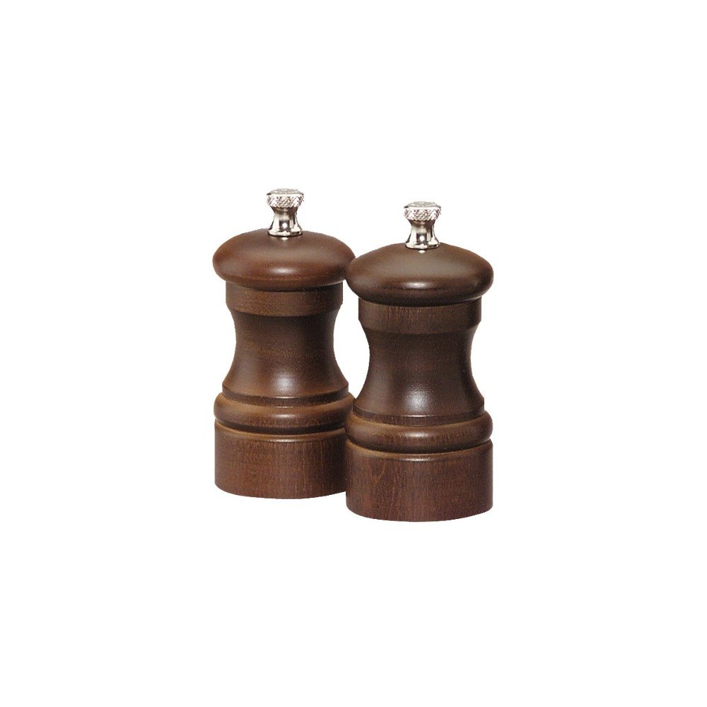 Chef Specialties 04102 Professional Series Capstan Walnut Pepper Mill and Salt Mill Set, 4""