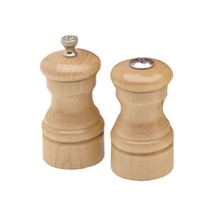 Chef Specialties 04300 Professional Series Capstan Natural Pepper Mill and Salt Shaker Set, 4""