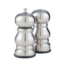 Chef Specialties 05400 Professional Series Prentiss Stainless Steel Pepper Mill and Salt Mill Set, 5 1/4""