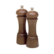 Chef Specialties 06102 Professional Series Elegance Walnut Pepper Mill and Salt Mill Set, 6""