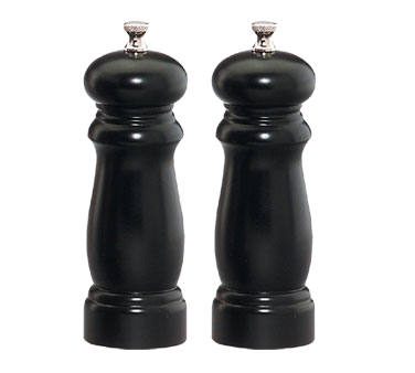 Chef Specialties 06301 Professional Series Salem Ebony Pepper Mill and Salt Shaker Set, 6""