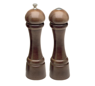 Chef Specialties 08100 Professional Series Windsor Walnut Pepper Mill and Salt Shaker Set, 8""