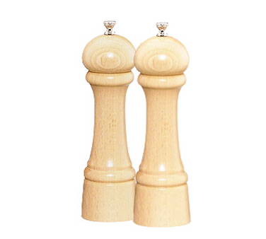 Chef Specialties 08202 Professional Series Windsor Natural Pepper Mill and Salt Mill Set, 8""