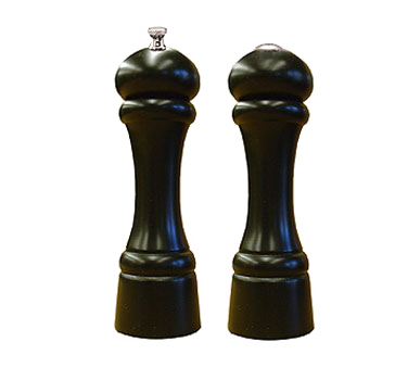 Chef Specialties 08301 Professional Series Windsor Ebony Pepper Mill and Salt Shaker Set, 8""