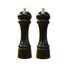 Chef Specialties 08302 Professional Series Windsor Ebony Pepper Mill and Salt Mill Set, 8""