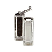 Chef Specialties 08370 Malibu Acrylic Pepper Mill and Salt Shaker Set, 4 1/2""