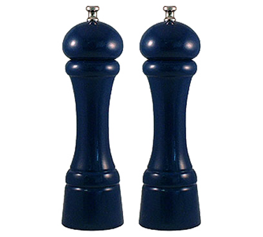 Chef Specialties 08702 Professional Series Autumn Hues Cobalt Blue Pepper Mill and Salt Mill Set, 8""