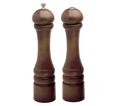 Chef Specialties 10100 Professional Series Imperial Walnut Pepper Mill and Salt Shaker Set, 10""