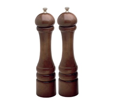 Chef Specialties 10102 Professional Series Imperial Walnut Pepper Mill and Salt Mill Set, 10""